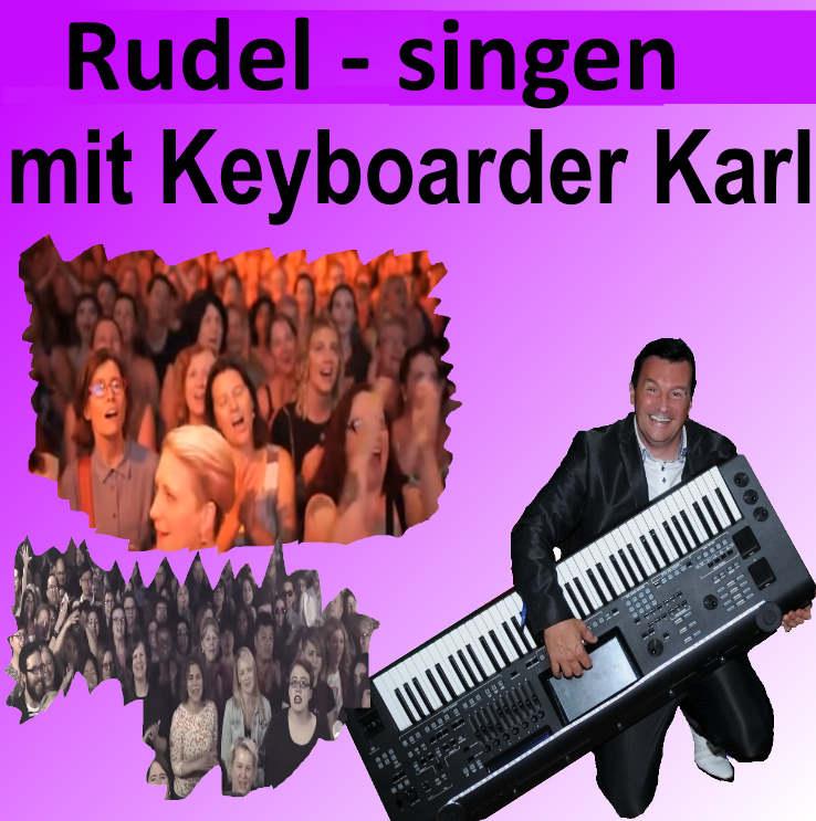 Rudel Singen in NRW mit Keyboarder Karl - Massen Karaoke - Schwarmsingen live Buchen