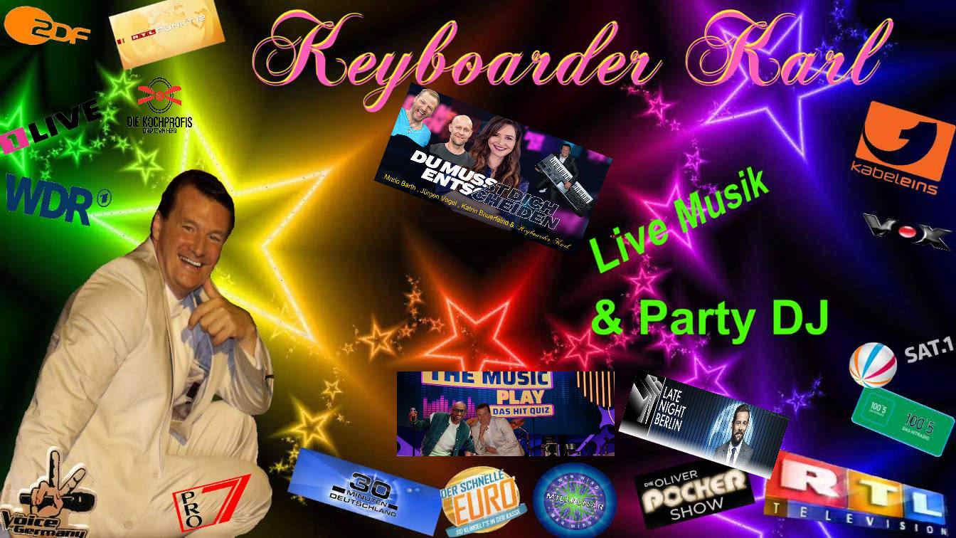 Keyboarder Karl und Massen Karaoke - im Rudel.Singen Sie mit Keyboarder Karl Massenkaraoke in ganz NRW inklusive Bühne und Technik